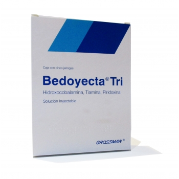 BEDOYECTA TRI (B COMPLEX) 5INJECTIONS 2ML *THIS PRODUCT IS ONLY AVAILABLE IN MEXICO