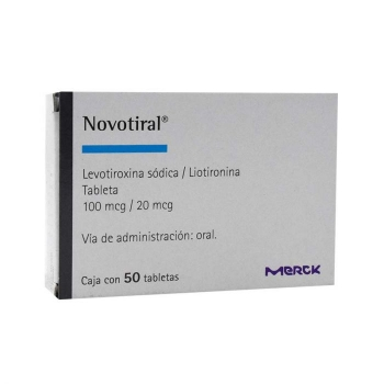 NOVOTIRAL (LEVOTIROXINA SODICA/LIOTIRONINA) 50 TABS 100 MCG/20 MCG